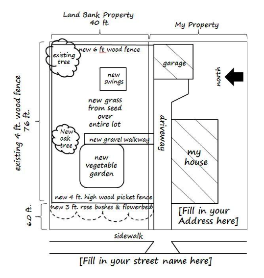 Large Lots – Sample Site Plan
